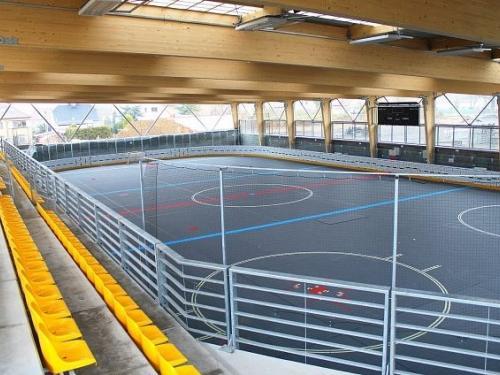 Hokejbalová aréna Dobřany, mantinely EURO Hokejbal - Další dokončená hokejbalová aréna tentokrát v Dobřanech z...