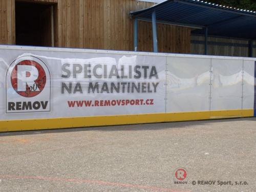 Hokejbalové mantinely s dilatací pro in-line povrch - červenec 2013 - ČR - Místní klub JEŽCI HEŘMANŮV MĚSTEC se mohou pochlubit novými hokejbalovými...