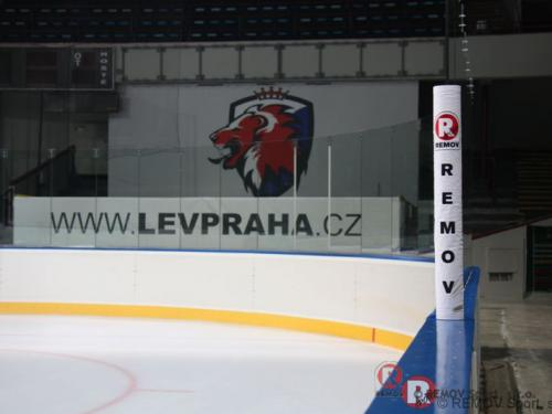 Zimní stadión HC Sparta v Holešovicích - září 2012 - ČR - Nové hokejové mantinely pro HC LEV PRAHA pražských Holešovicích