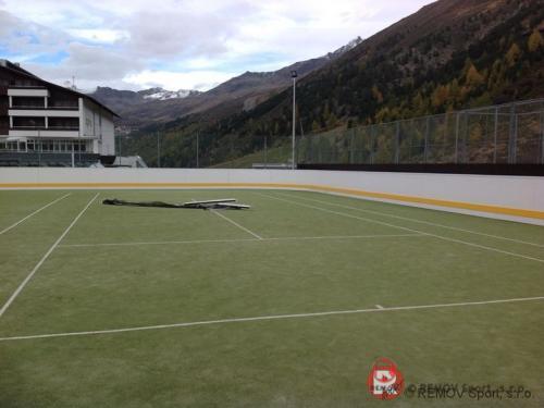 Rekreační mantinel Obergurgl (Rakousko) - říjen 2012 - AT -  Dnes jsme dokončili rekreační mantinel v  r akouském...