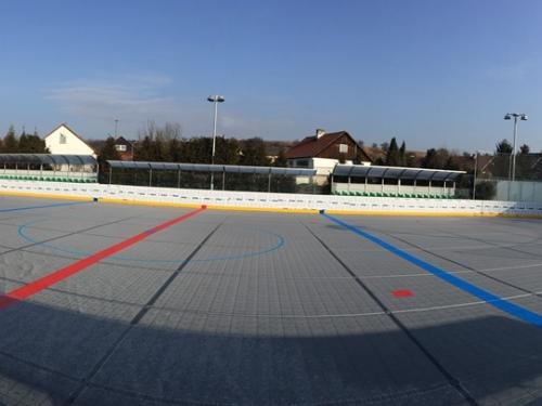 Hokejbalová aréna Malé Březno, mantinely EURO Hokejbal - Hokejbalová aréna Malé Březno, mantinely EURO HOKEJBAL s...