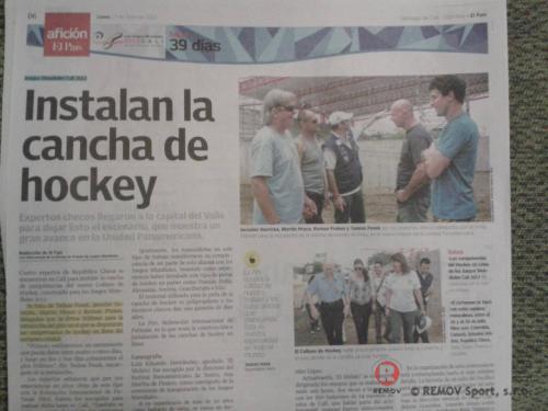 Mantinely pro Světové hry 2013 Cali, Kolumbie - duben 2013 - Kolumbie -  Mantinely s dilatací pro inline povrch, pro nově vzniklé...