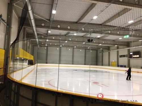Hokejové mantinely ŠKODA Icerink - Praha - Leden 2018 - ČR -   Pro nejmodernější zimní stadion v Praze - ...