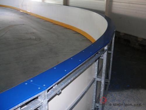 Hokejové mantinely - Tarnowo Podgorne - září 2010 - PL -  V Polsku jsme postavili další hokejové mantinely pro rekreační...