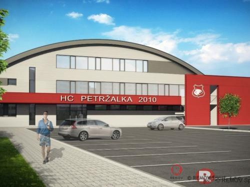 Tréninkova místnost s mantinely v HC Petržalka - prosinec 2012 - SK - V Bratislavské Petržalce jsme taktéž dokončily rekreační mantinely s ostrými...