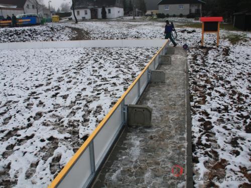 Mantinely pro rekreační sporty - Obec Načetín - leden 2010 - ČR -  Mantinely pro rekreační sporty v obci Načetín