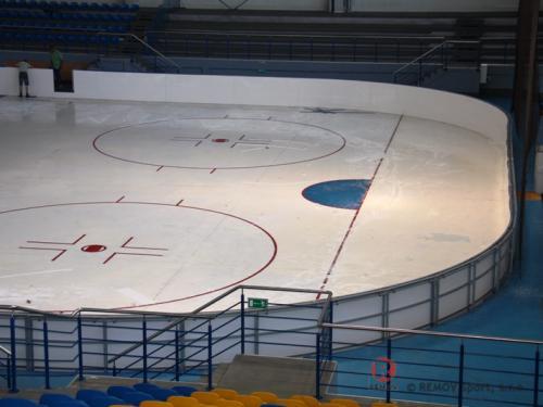 Hokejové mantinely - Jastrzebie (Polsko) - srpen 2012 - PL - Hokejové mantinely EURO EXTRA v polském Jestřebí.