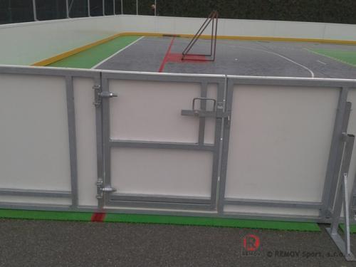 Rekreační mantinel Slovinsko - říjen 2012 - SLO - V říjnu jsme dokončili rekreační mantinel - mobilní kluziště ...