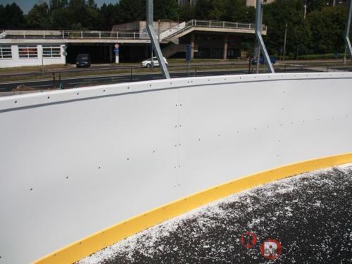 Hokejbal - Ústí nad Labem - červen 2012 - ČR - Hokejbalové mantinely - EURO HOKEJBAL - Nové sportovní centrum v...