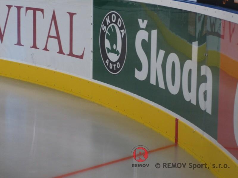 Hockey boards EURO EXTRA - detail on rail