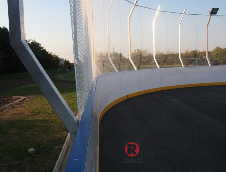 Hokejbalové mantinely EURO HOKEJBAL - pohled na rádius