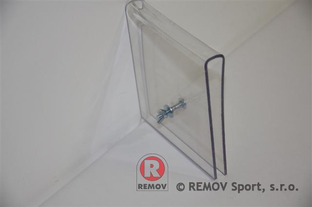 Nahradní díly - svorka na sklo horní