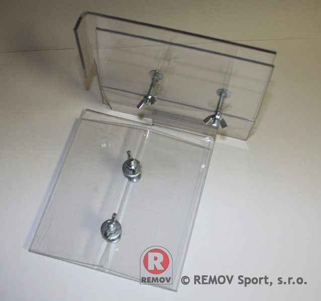 Náhradní díly - plastová svorka na sklo vrchní univerzální