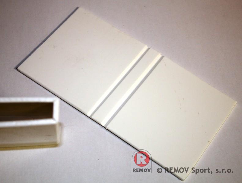 Náhradní díly - plastová svorka na sklo spodní